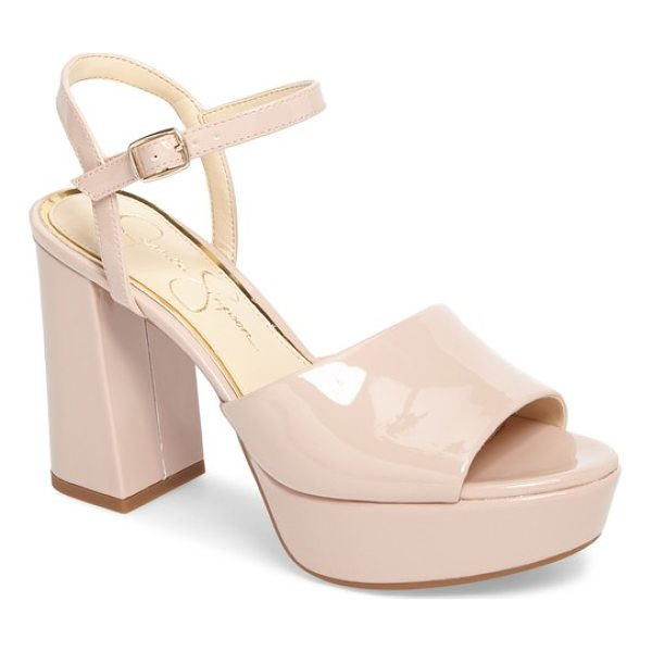 JESSICA SIMPSON kerrick platform sandal - The simple styling of this glam platform sandal makes it...