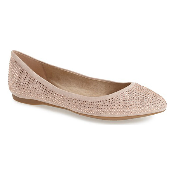 JESSICA SIMPSON labelle studded pointy toe flat - Tonal rhinestone studs shimmer on this pointy toe flat done...