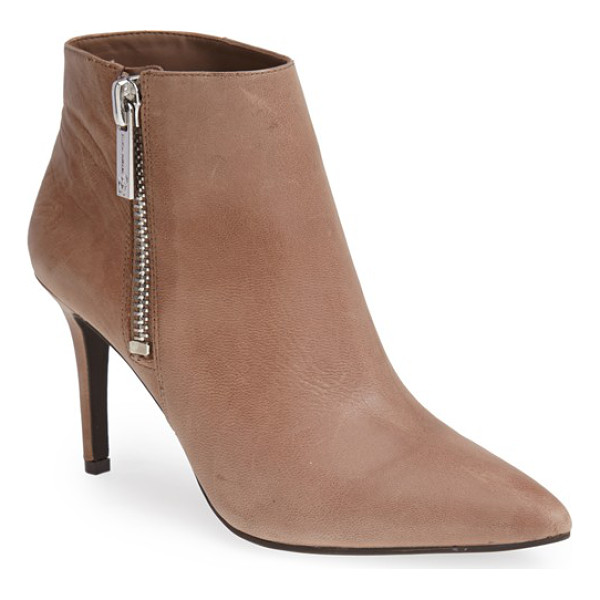 JESSICA SIMPSON lafay bootie - Sleek leather adds sophisticated style to an essential...