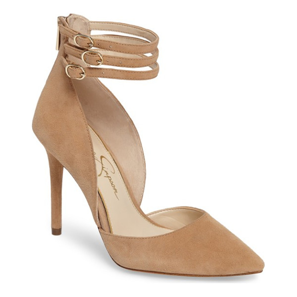 JESSICA SIMPSON linnee ankle strap pump - Slim laddered ankle straps give trend-savvy appeal to a...