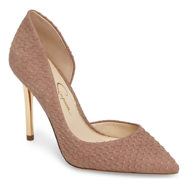JESSICA SIMPSON lucina pump - A half-d'Orsay silhouette is a sophisticated update to a...