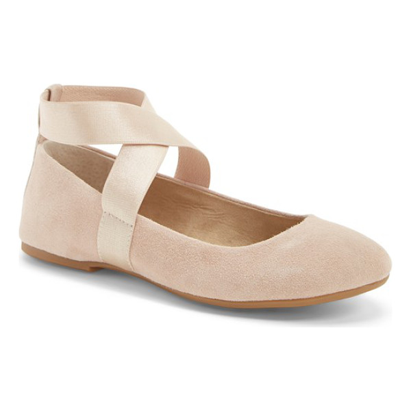 JESSICA SIMPSON mariza ballet flat - For a style that's on pointe, a nubuck leather flat is...