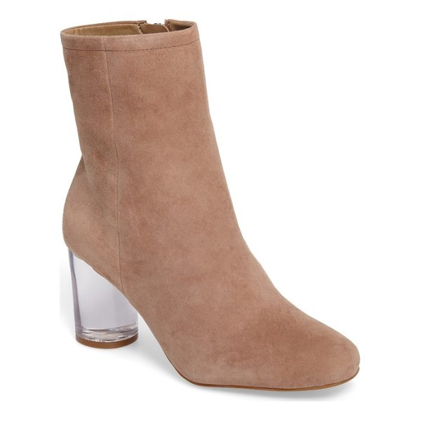 JESSICA SIMPSON merta column heel bootie - Jessica Simpson lofts a minimalist bootie on a wrapped...