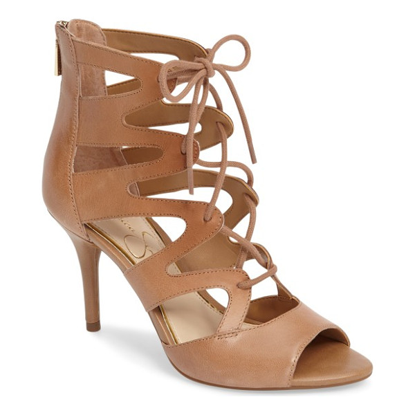 JESSICA SIMPSON mitta sandal - Ghillie-style lacing ladders up the front of this...