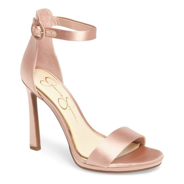 JESSICA SIMPSON plemy sandal - Lustrous satin elevates a streamlined evening pump lofted...