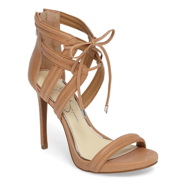 JESSICA SIMPSON rensa sandal - Slender ties cinch the cage straps of a statement sandal...