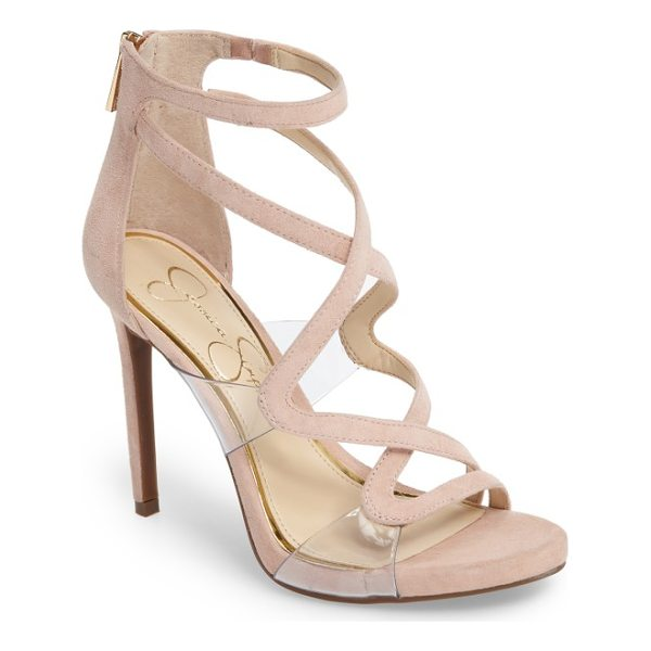 JESSICA SIMPSON roelyn sandal - Sinuous cage straps wind provocatively up the front of a...