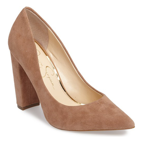 JESSICA SIMPSON tanysha pointy toe pump - A trend-right pointy toe and a tall block heel define this...