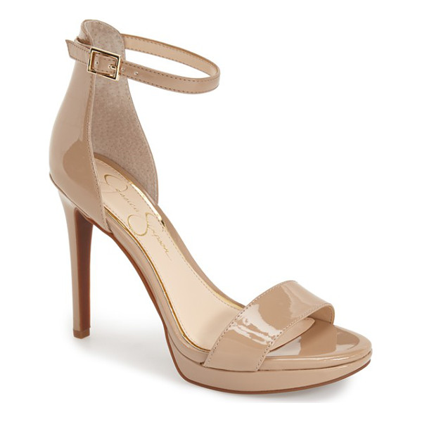 JESSICA SIMPSON vaile sandal - A slender ankle strap tops an on-trend minimalist sandal...