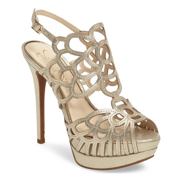 JESSICA SIMPSON weslynn cutout platform sandal - Deco-inspired cutouts arc and loop up the front and around...
