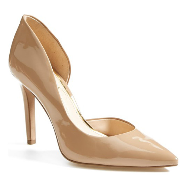 JESSICA SIMPSON claudette half dorsay pump - A single-sole stiletto fashioned with a pretty pointed toe...