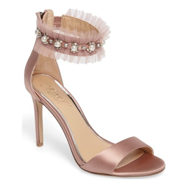 JEWEL BADGLEY MISCHKA abagail embellished ankle strap sandal - Imitation pearls and twinkling crystals embellish the...