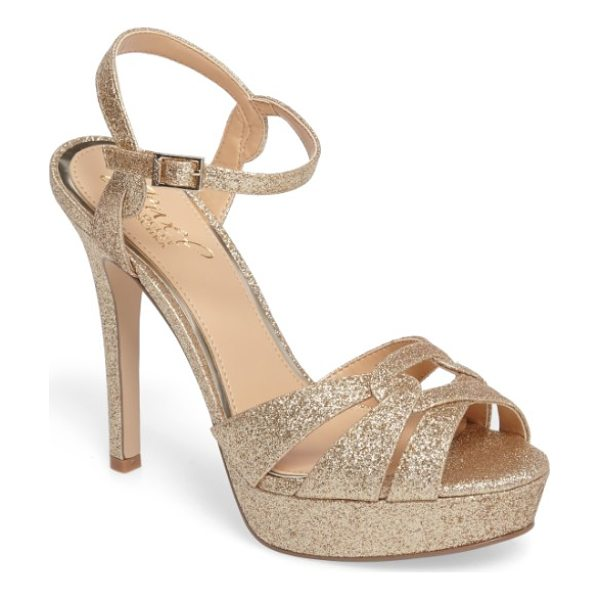 JEWEL BADGLEY MISCHKA alysa platform sandal - Intersecting straps gorgeously structure the toe of a...