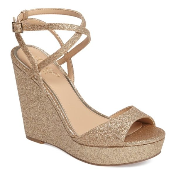 JEWEL BADGLEY MISCHKA ambrosia wedge sandal - All eyes will be on you as you make an entrance in this...