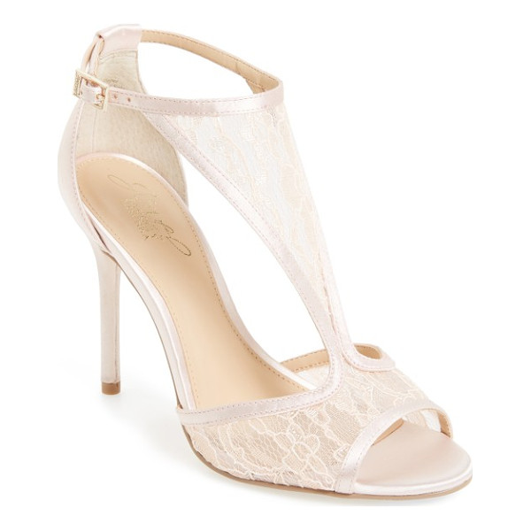 JEWEL BADGLEY MISCHKA horizon t-strap mesh sandal - A patterned mesh T-strap secures a forward-looking sandal...