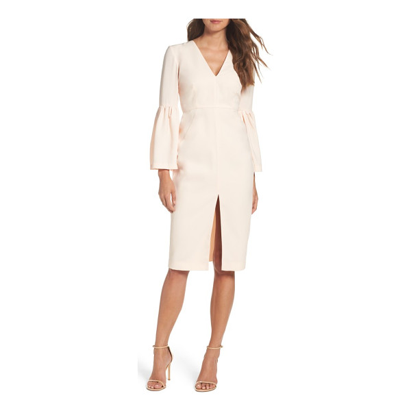 JILL JILL STUART bell sleeve dress - Let your sleeves do the talking in this put-together crepe...
