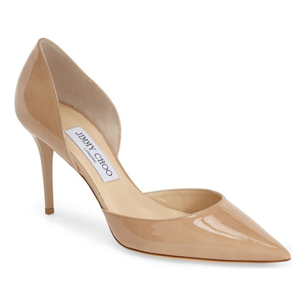 JIMMY CHOO addison dorsay pump - A sleek pointy toe and stiletto heel lengthen the lines of...