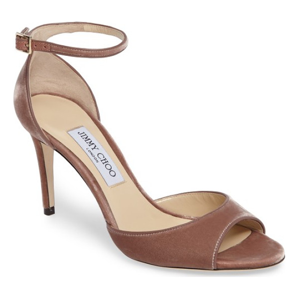 JIMMY CHOO jimmy choo annie ankle strap sandal - With a slender ankle strap and a velvety finish, this...