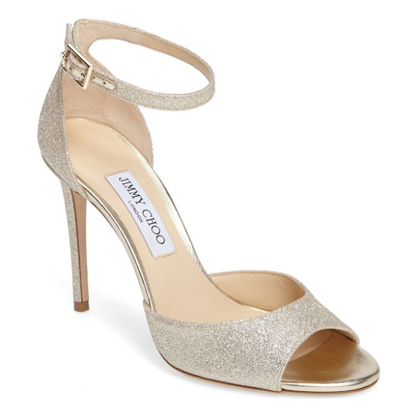 JIMMY CHOO annie ankle strap sandal - With a slender ankle strap and a glitterstruck finish, this