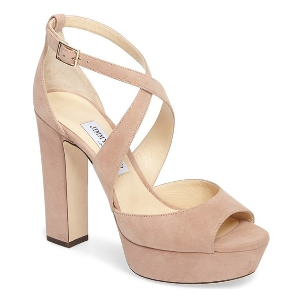JIMMY CHOO april platform sandal - Timeless sophistication and dynamic retro style merge in a...