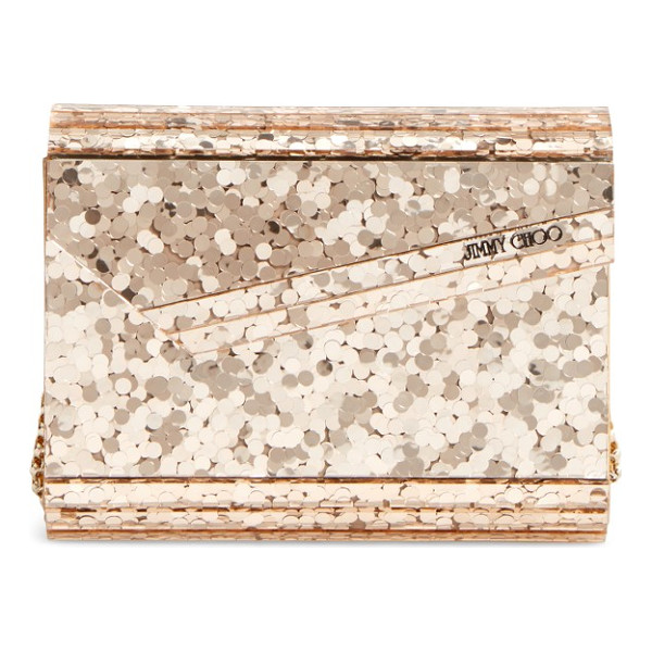 JIMMY CHOO candy clutch - A profusion of shimmering paillettes adds showstopping...