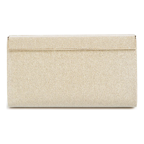 JIMMY CHOO Cayla lame glitter clutch - Etched logos add understated branding to the goldtone frame...