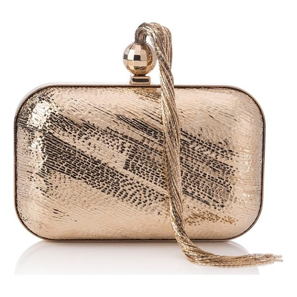 JIMMY CHOO cloud tassel clutch - Disco-era attitude merges with a chic, modern sensibility...