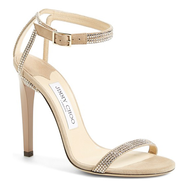 JIMMY CHOO daisy sandal - Shimmering crystals highlight the minimalist lines of a...