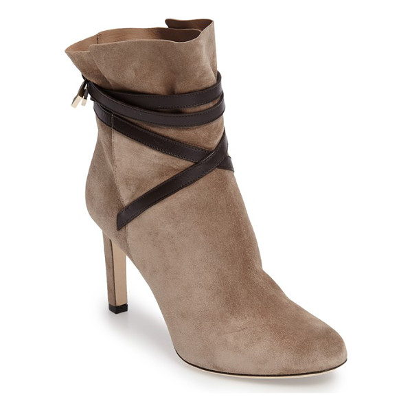 JIMMY CHOO dalal tie bootie - A smooth leather wraparound strap accentuates the