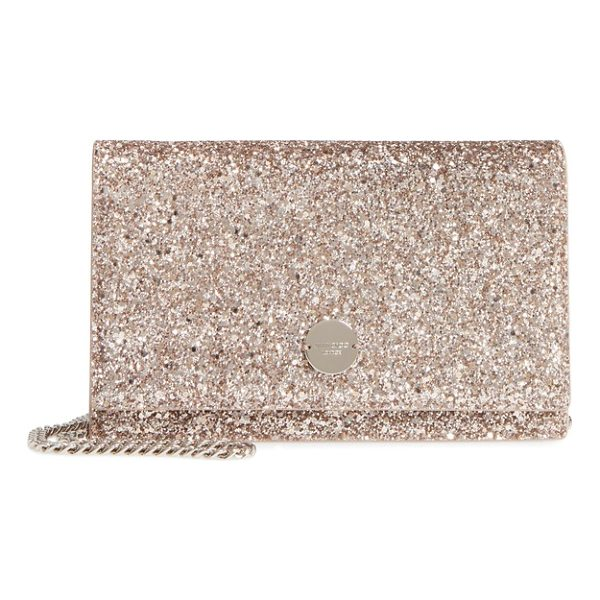 JIMMY CHOO florence glitter crossbody bag - A glitter-encrusted finish adds showstopping glamour to a...