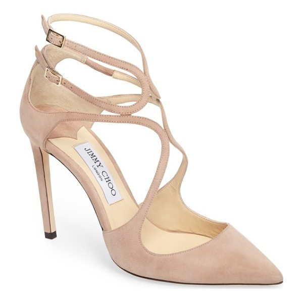 JIMMY CHOO lancer strappy pump - Slender straps arc and loop into a curvy deconstructed cage...
