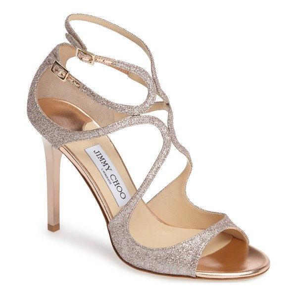 JIMMY CHOO jimmy choo lang sandal - A glittering finish amplifies the scene-stealing glamour of...