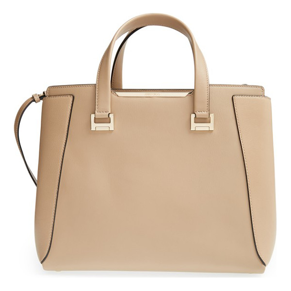 JIMMY CHOO Large alfie leather satchel - A satchel for all seasons, this spacious, structured bag...