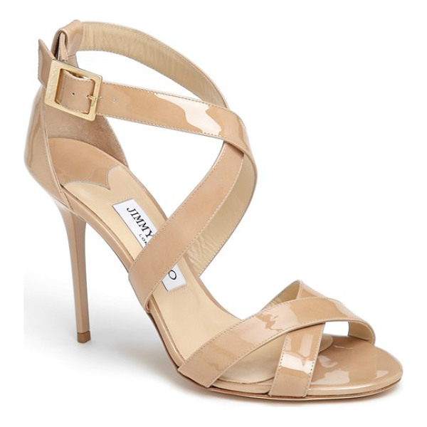 JIMMY CHOO lottie sandal - Crisscrossed straps enhance the effortless elegance of a...