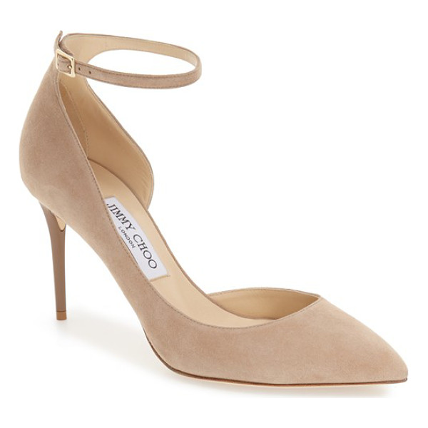 JIMMY CHOO jimmy choo 'lucy' half d'orsay pointy toe pump - A curvy, half-d'Orsay pump boasts a svelte, streamlined