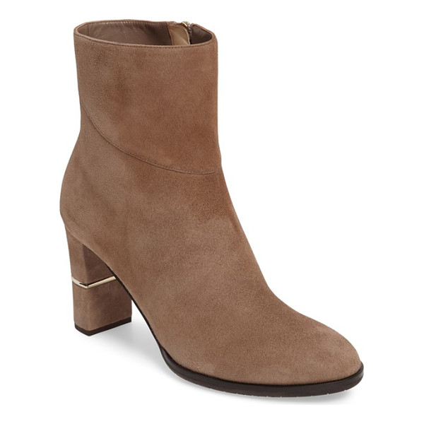 JIMMY CHOO marcia zip bootie - Pieced suede defines the shaft of an essential bootie...