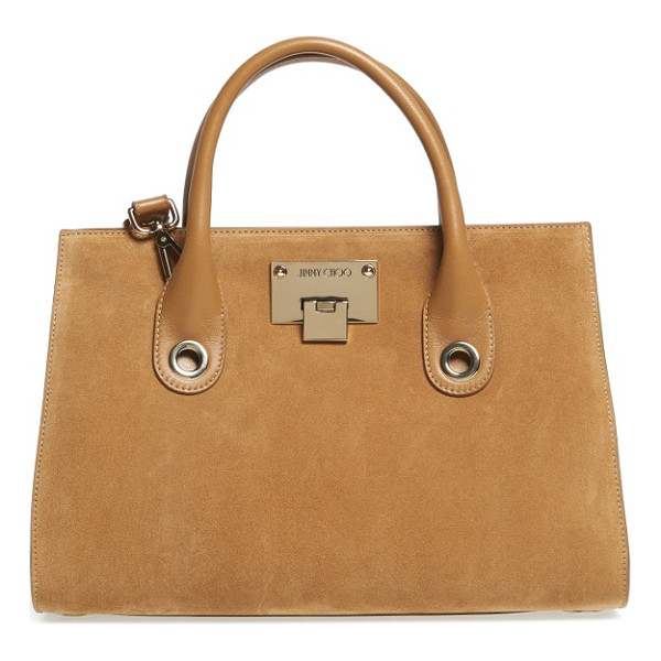 JIMMY CHOO medium riley suede tote - A lightly structured tote gets refreshed in lush suede with...