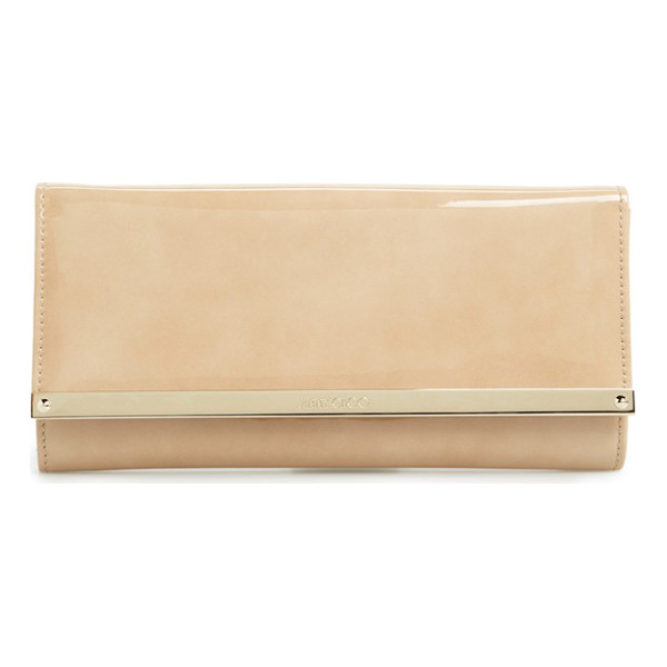 JIMMY CHOO 'milla' patent leather wallet on a chain - Liquid-shine patent leather defines the immaculate curves...