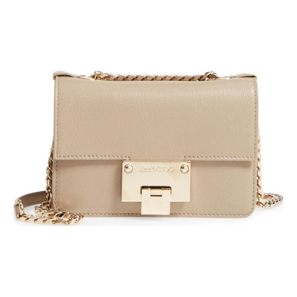 JIMMY CHOO mini rebel leather crossbody bag - Smooth calfskin leather defines the structured, streamlined...