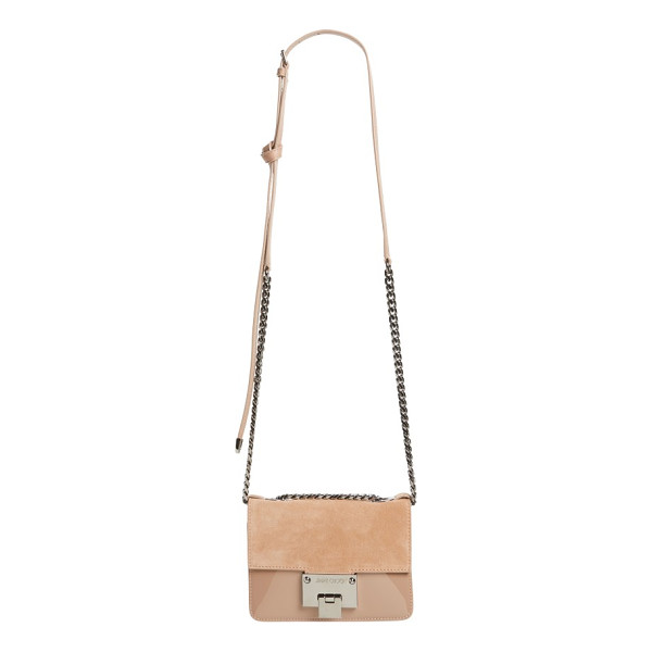 JIMMY CHOO mini rebel suede crossbody bag - Ultrasoft suede and gleaming patent leather define the...
