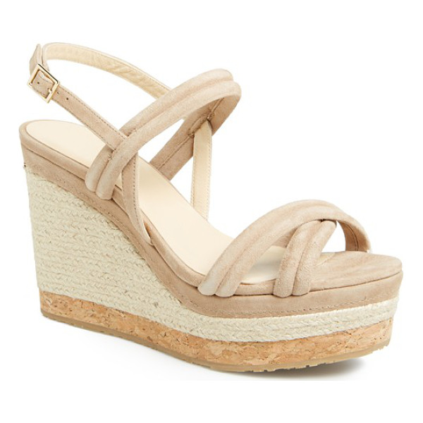JIMMY CHOO nomad sandal - Smooth suede straps refine an eye-catching espadrille with...
