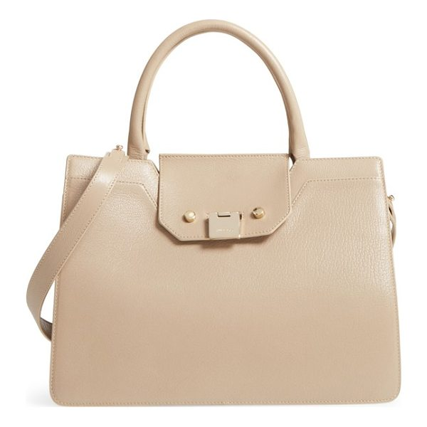 JIMMY CHOO rebel leather tote - A signature Rebel lock closure strikingly details a...