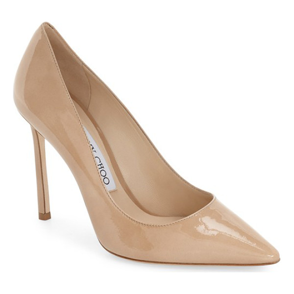 JIMMY CHOO 'romy' pointy toe pump - Timeless elegance rules the day with this streamlined