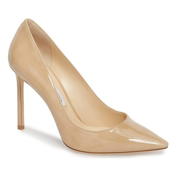 JIMMY CHOO 'romy' pointy toe pump - Timeless elegance rules the day with this streamlined...
