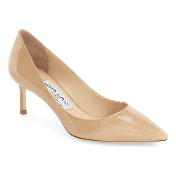 JIMMY CHOO jimmy choo 'romy' pump - Finely grained Italian leather extends the effortless poise...