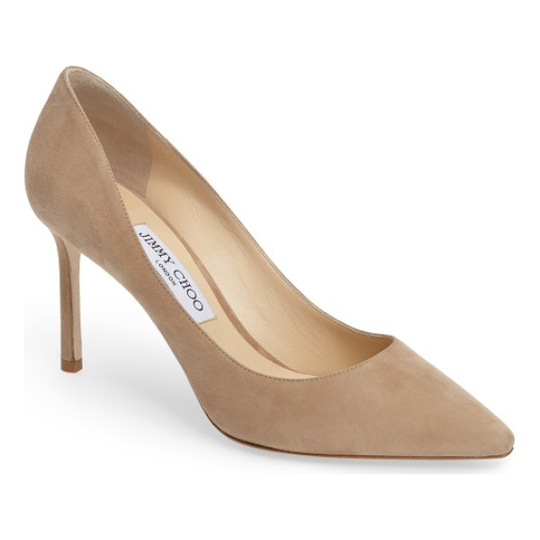 JIMMY CHOO jimmy choo romy pump - Jimmy Choo's signature Romy pump is silhouetted with subtle...