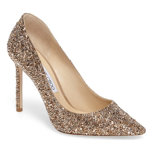 JIMMY CHOO jimmy choo crystal romy pump - Capture the glamour of the evening in a statement stiletto...