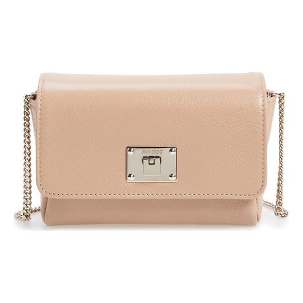 JIMMY CHOO 'ruby' grainy leather clutch - Supple goatskin leather in a gorgeous hue adds to the chic...