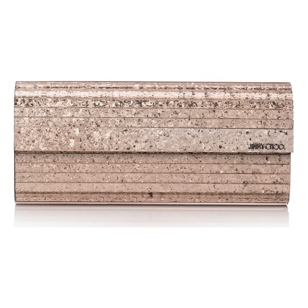 JIMMY CHOO sweetie glitter shadow acrylic clutch - A dazzling evening clutch is fashioned from high-gloss...