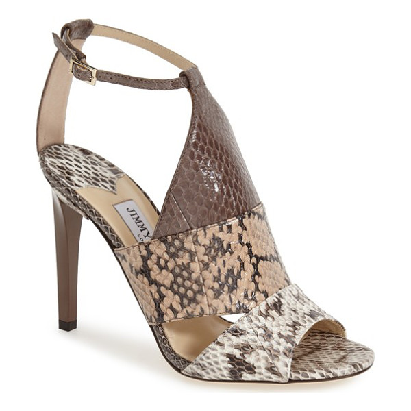 JIMMY CHOO timbus ankle strap sandal - A slender ankle strap adds a delicate touch to this bold...